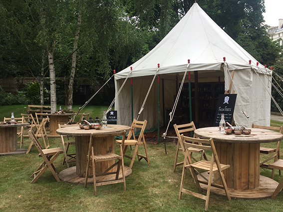 Vintage Marquees tables and chairs for hire