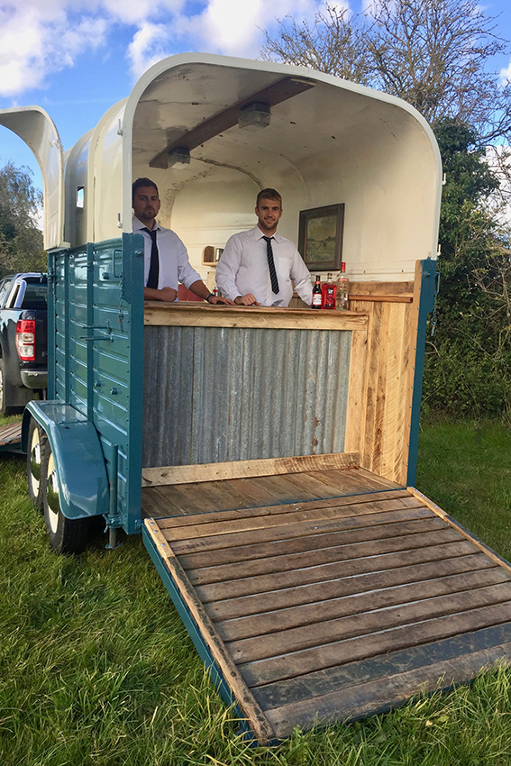 Vintage Marquee horseboxes for hire