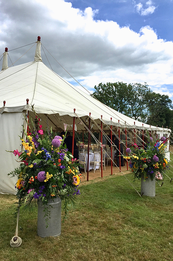 One of our beautiful marquees set up for a wedding