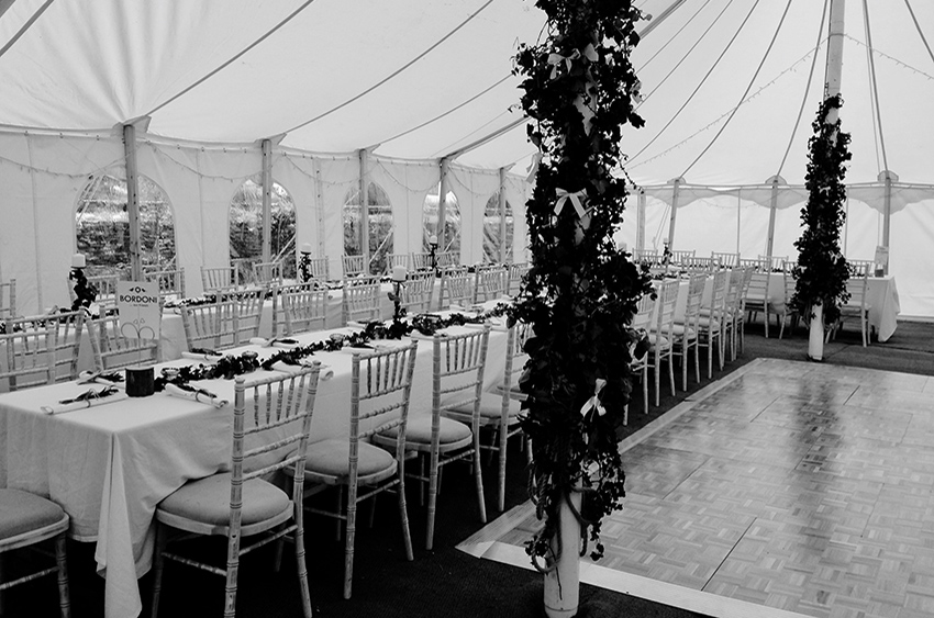 Table laid for a wedding