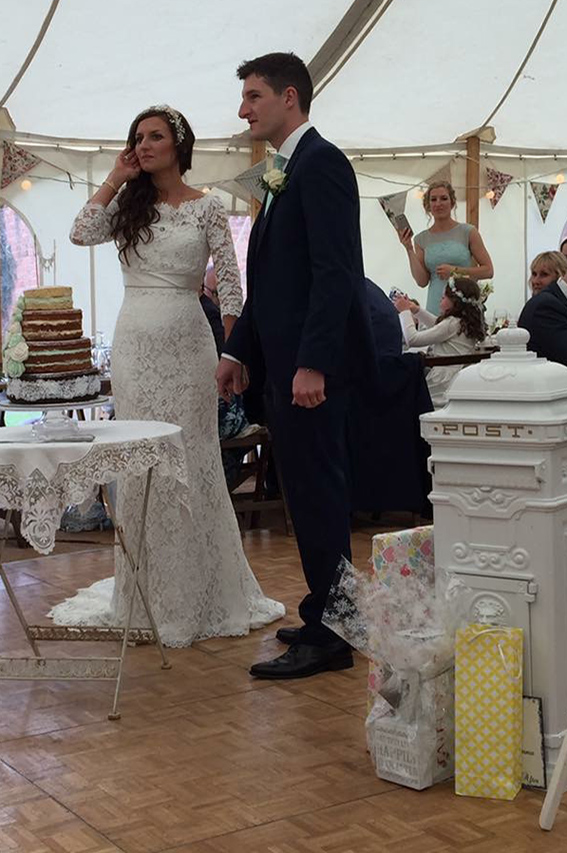 Wedding inside one of our marquees